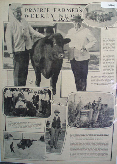 Prairie Farmers Weekly News In Picture 1930 Article