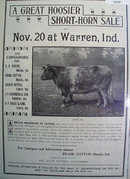 Hoosier Short Horn Sale 1902 Ad