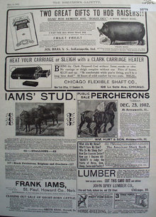 Horses And Farm Products 1902 Ad