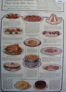Harriet Ellsworth Coates Food Dishes 1918 Article