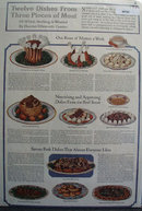 Twelve Dishes From Three Pieces Of Meat 1918 Article