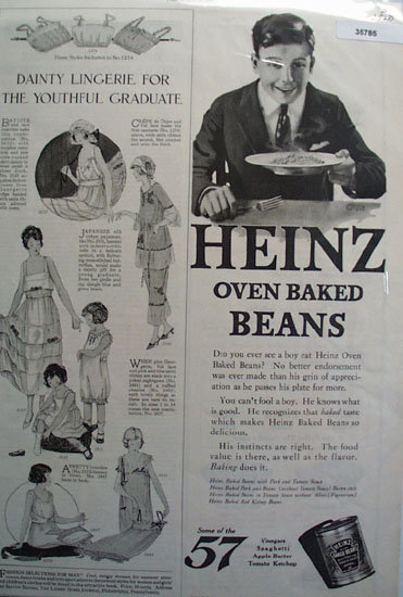Heinz Baked Beans 1920 Ad
