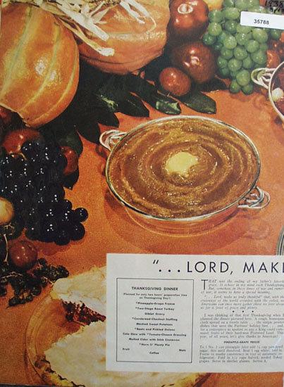 Elizabeth Woody Thanksgiving 1938 Article