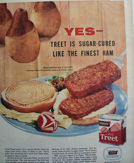 Armour Star Treet Meat 1957 Ad