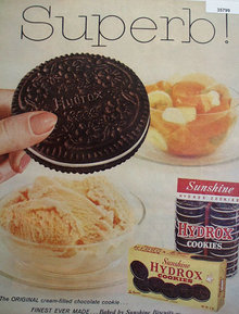 Sunshine Hydrox Cookies 1959 Ad