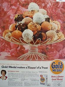 Gold Medal Flour Buttermilk Puffs 1957 Ad
