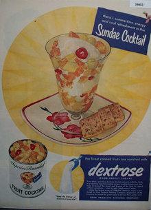 Cerelose Dextrose Sugar 1951 Ad