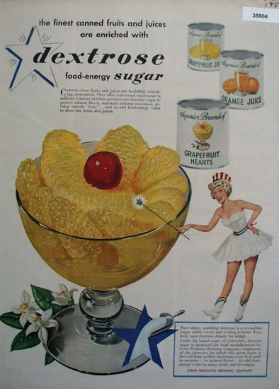 Dextrose Food Energy Sugar 1950 Ad