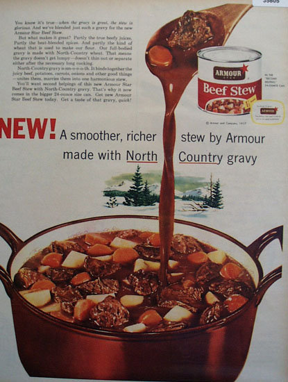 Armour Star Beef Stew 1957 Ad