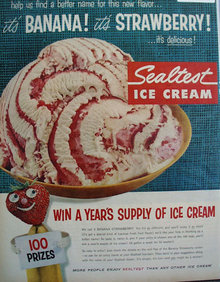 Sealtest Ice Cream. 1957 Ad