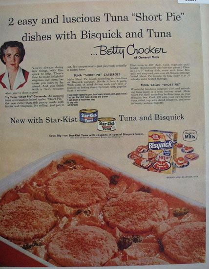 Star Kist Tuna And Bisquick 1957 Ad