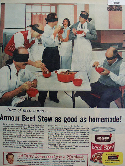 Armour Star Beef Stew 1956 Ad
