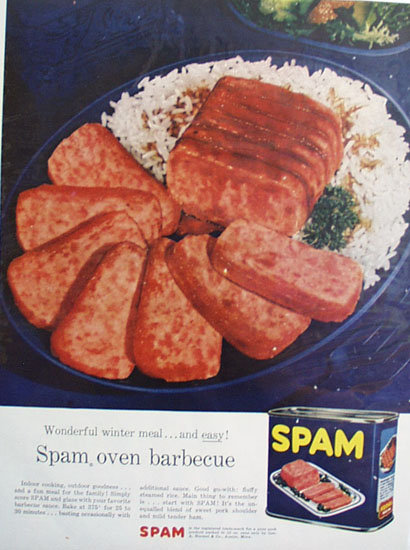 George A. Hormel Spam 1956 Ad.