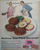 Armour Star Pork Sausage 1956 Ad