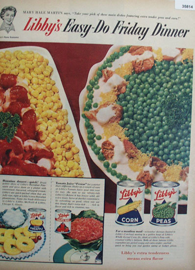 Libbys Vegetables 1956 Ad