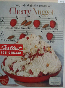 Sealtest Ice Cream Cherry Nugget 1958 Ad.