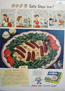 Birds Eye Quick Frozen Green Beans 1949 Ad