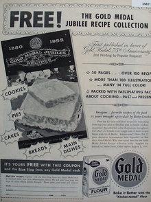 Betty Crocker Gold Metal Flour 1956 Ad