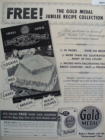 Betty Crocker Gold Metal Flour 1956 Ad