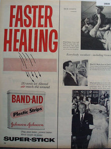 Band Aid Plastic Strips 1956 Ad