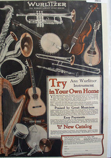 Wurlitzer Music House 1926 Ad.