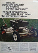 Sears Craftsman Mower 1969 Ad