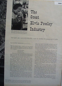 Elvis Presley Industry By Chester Morrison 1956 Article