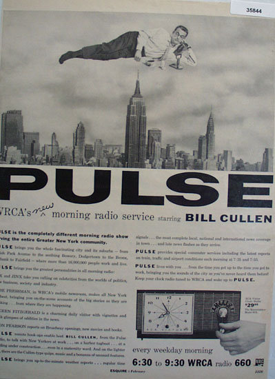 Pulse Radio Show With Bill Cullen 1956 Ad