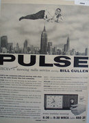 Pulse Radio Show With Bill Cullen 1956 Ad