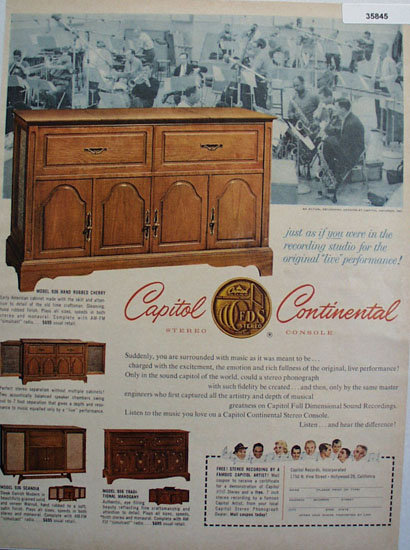 Capitol Continental Stereo Console 1961 Ad