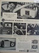 General Electric Clock Radio 1955 Ad