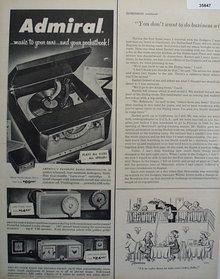 Admiral Radio Phonograph 1955 Ad