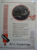 RCA Radiotron Vacuum Tube 1927 Ad