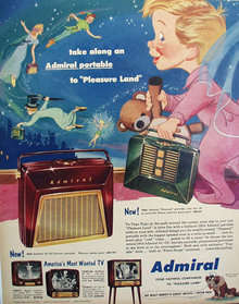 Admiral Television And Portable Radios 1953 Ad