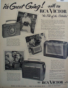 RCA Victor First in Radio 1953 Ad