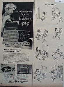 Westinghouse Portable Radios 1957 Ad