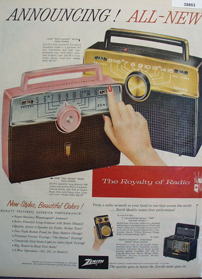 Zenith Royalty of Radio 1957 Ad