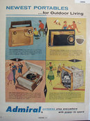 Admiral Newest Portable Radios 1957 Ad