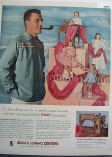 Singer Sewing Centers 1956 Ad