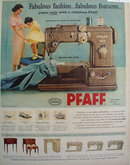 Pfaff Automatic Sewing Machine 1957 Ad