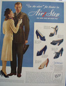 Brown Shoe Co. Air Step Shoes 1943 Ad