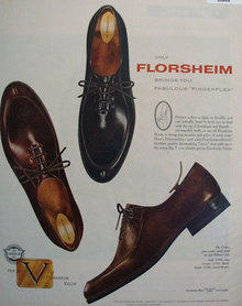 Florsheim Fingerflex Shoes 1957 Ad