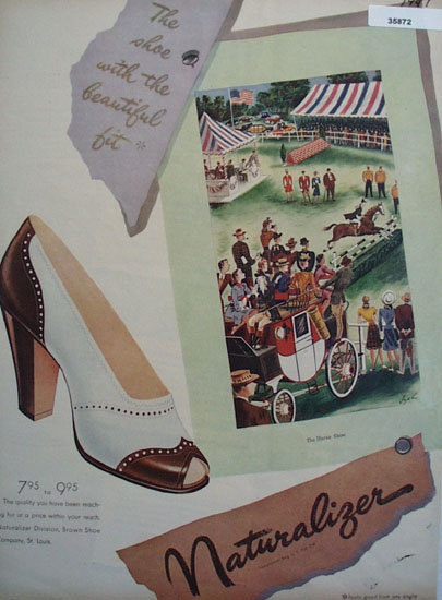 Brown Shoe Co. Naturalizer Shoe 1947 Ad