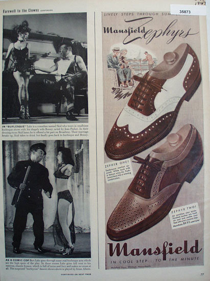 Mansfield Zephyrs Shoe 1947 Ad