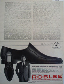 Brown Shoe Co Roblee Shoe 1961 Ad