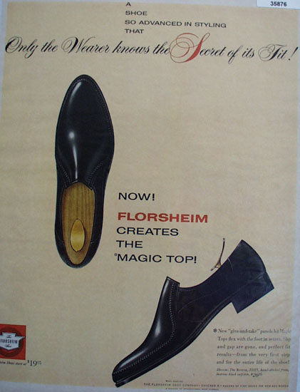 Florsheim Magic Top Shoe 1961 Ad