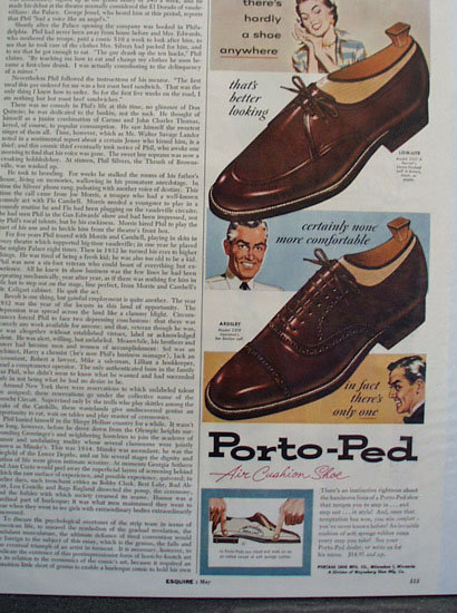 Porto Ped Air cushion Shoe 1956 Ad