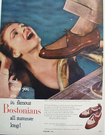 Commonwealth Shoe An Leather Co 1956 Ad