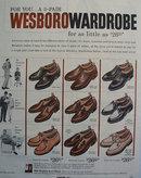 Westboro Wardrobe Shoe 1956 Ad