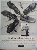 Mansfield Shoes 1956 Ad